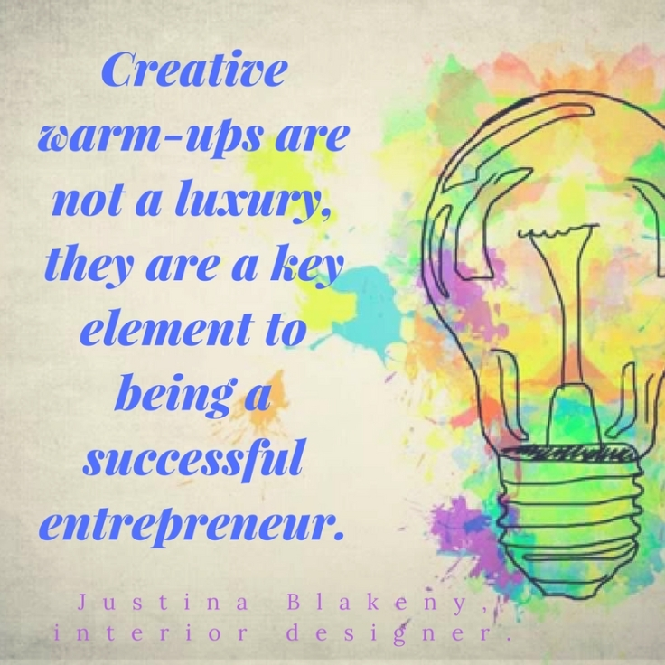 Creative warm-ups are not a luxury, they are a key element to being a successful entrepreneur.