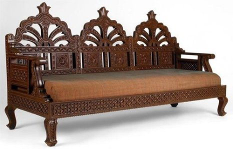 Wood Carved bench (IndiaMart)