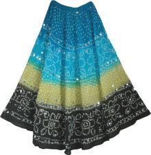 Tie Dye & Pailette Skirt
